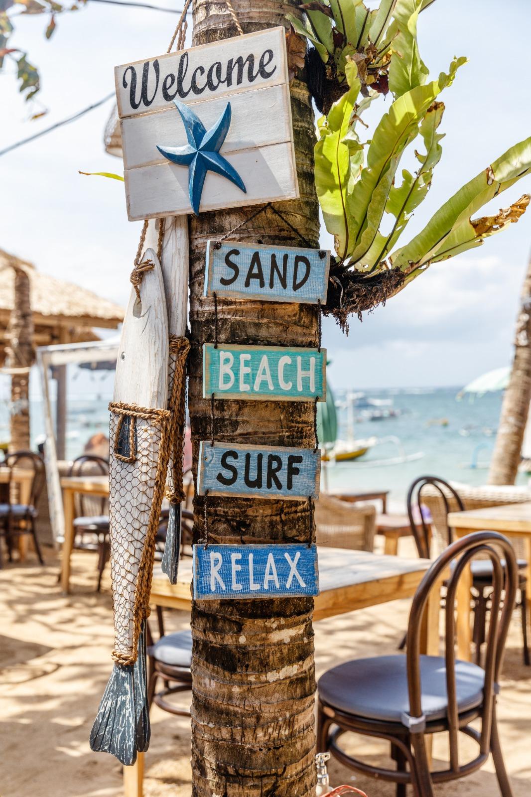 Panneau bienvenue plage.