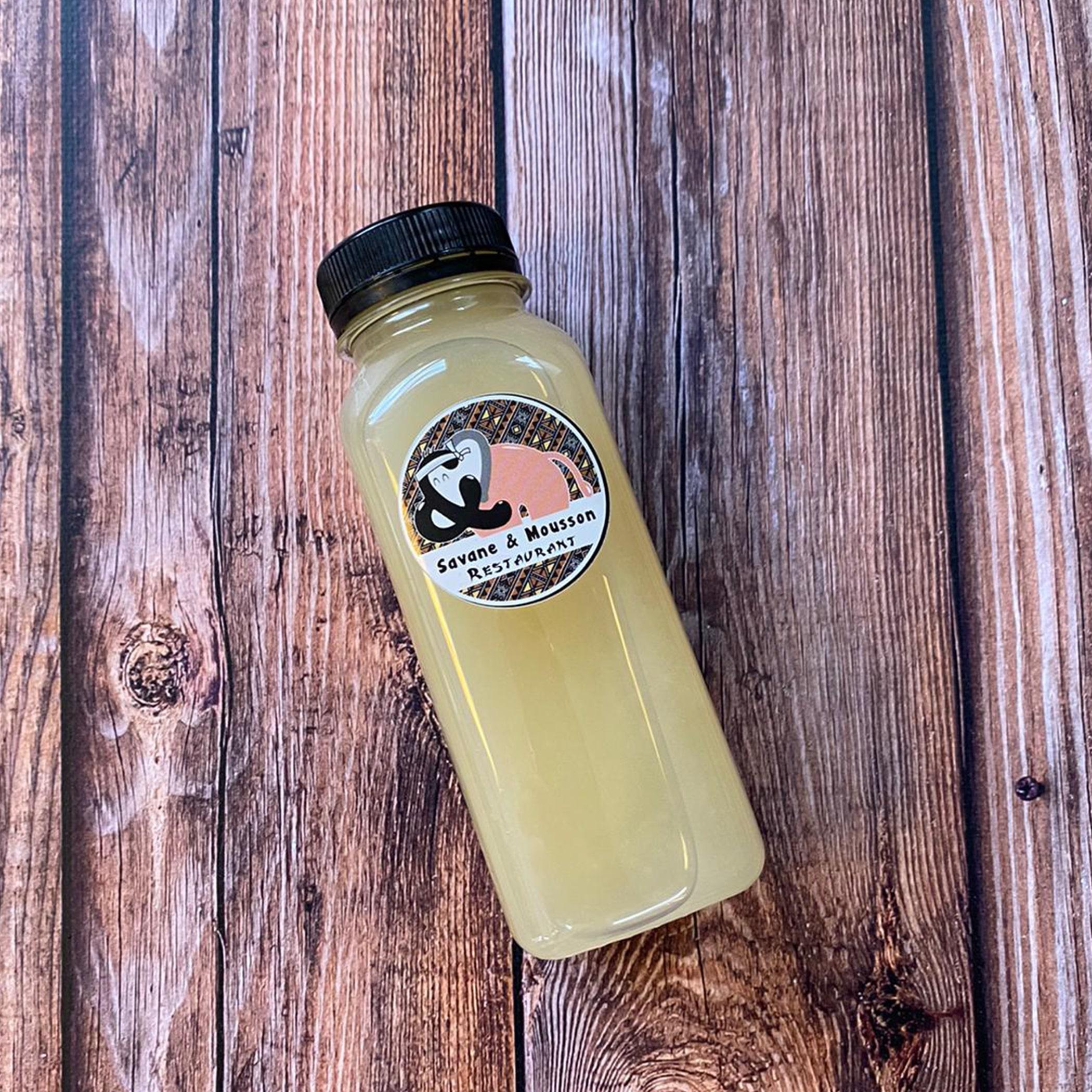 Cocktail de gingembre pressé, boisson africaine, gnamakoudji.